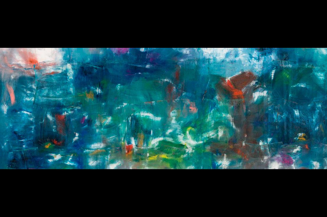 Dan Rees (b. 1982, United Kingdom) Artex Painting, 2013. Oil on canvas. 119 x 159 inches